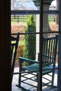parlor window looking out