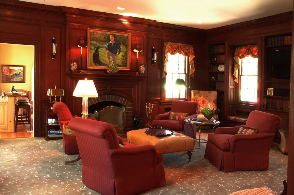 original 1938 house paneled library drawing room