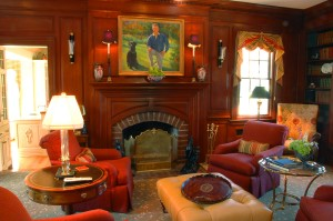 original house paneled library 2