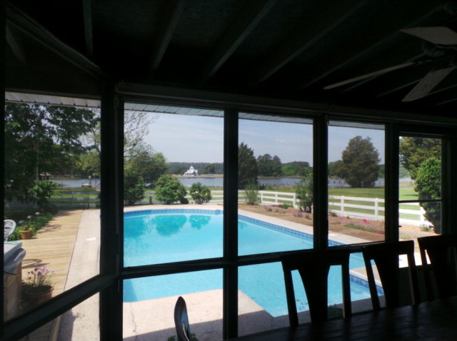 belmont porch to pool