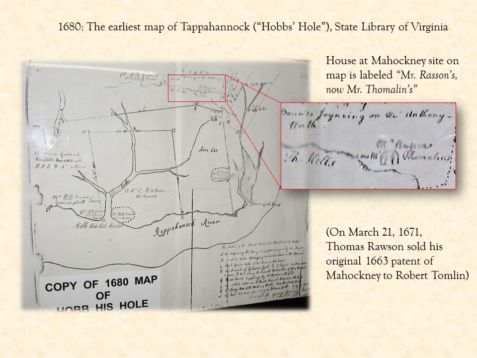 - History - 1680 map with Rasson Thomalin house